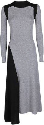 Alexander McQueen Colour-Blocked Knit Maxi Dress