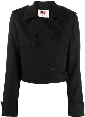 Ports 1961 Cropped Trench Jacket