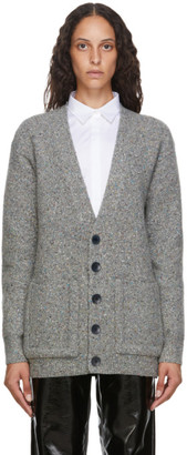 Tibi Grey Eco Tweedy Oversized Cardigan