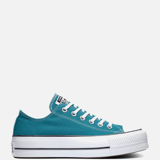 Converse Chuck Taylor All Star Lift Ox Trainers - Bright Spruce