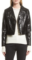 Veda Women's Nova Gloss Leather Moto Jacket