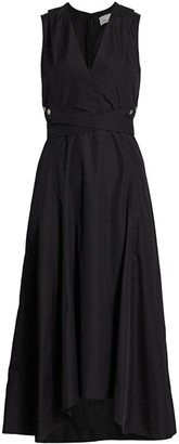 3.1 Phillip Lim Poplin Wrap Midi Dress