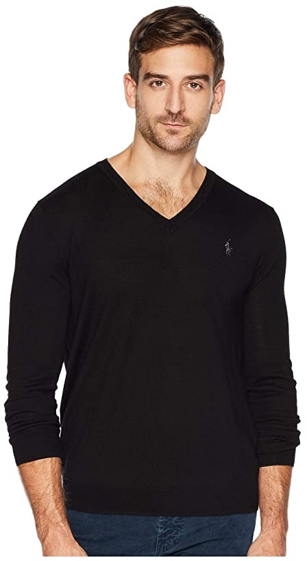 3383090b0 Merino Wool Polo Sweater Mens - ShopStyle