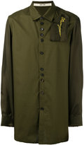 Damir Doma embroidered patch shirt - men - Cotton/Cupro - M