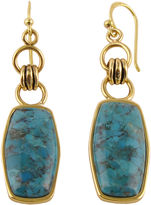 Barse BIJOUX BAR Art Smith by Genuine Turquoise Brass Earrings