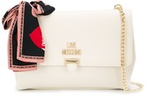 Love Moschino printed scarf chain shoulder bag