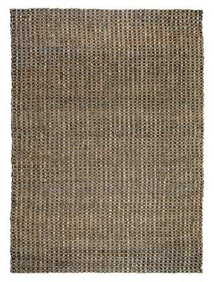Kosas Home Intoppo Hand-Braided Charcoal/Natural Area Rug Home Rug Size: Rectangle 8' x 10'