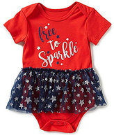 Baby Starters Baby Girls 3-12 Months Free To Sparkle Americana Skirted Bodysuit