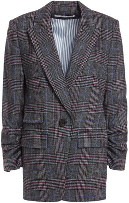 Veronica Beard Martel Prince Of Wales Checked Wool-blend Blazer