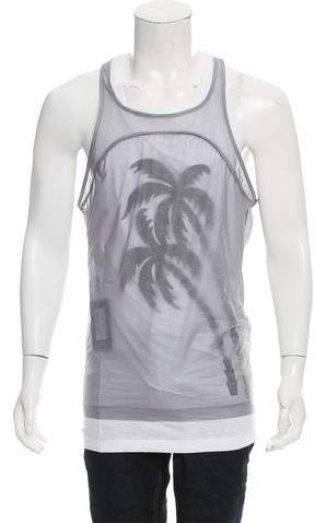 DSQUARED2 Layered Graphic Tank w/ Tags