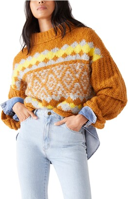 Free People Alpine Crop Mock Neck Sweater