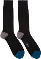 Paul Smith Black Contrast Socks