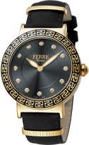 Ferré Milano Women's Dial With Leather Calfskin Band Watch.