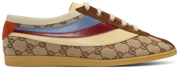 Gucci Beige and Brown GG Falacer Sneakers