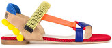 Moschino colour block sandals - women - Calf Leather/Polyester - 37