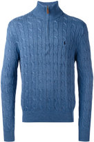 Polo Ralph Lauren cable knit zipped jumper