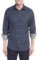 John W. Nordstrom Regular Fit Non-Iron Plaid Sport Shirt