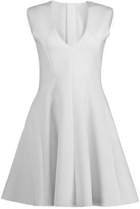 MSGM White Fit Flare Dress
