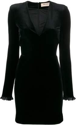 Blanca Vita fitted velvet dress