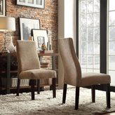 Inspire Q Marcey Tan Chenille Wave Back Dining Chair (Set of 2)