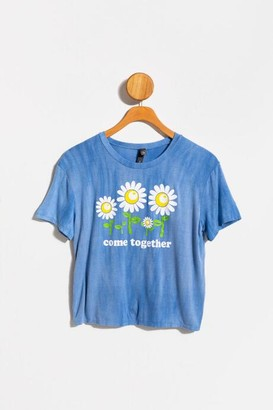 francesca's Sunflower Come Together Tee - Chambray