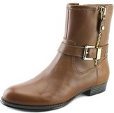 Isaac Mizrahi Tasha Women W Round Toe Leather Tan Ankle Boot.