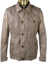Burberry multi-pockets layered jacket - men - Cotton/Polyamide/Polyester - 48