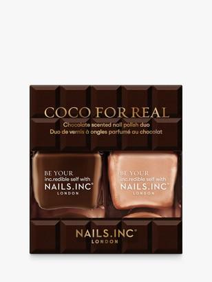 Nails Inc Coco For Real Nail Polish Duo Kit, 2 x 14ml