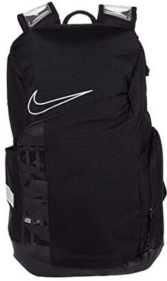 Nike Elite Pro Small Backpack (Black/Black/White) Backpack Bags
