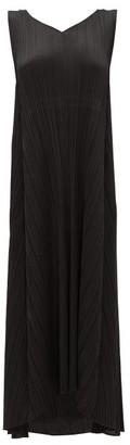 Pleats Please Issey Miyake Drawstring-waist Tech-pleated Dress - Womens - Black