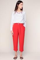 Manoush Pantalon 3/4 Fluide Rouge