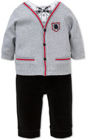 Little Me 2-Pc. Layered-Look Cardigan Top & Pants Set, Baby Boys (0-24 months)