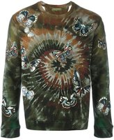 Valentino 'Tie&Dye' embroidered butterfly sweatshirt - men - Cotton/Polyamide/Polyester/Viscose - S