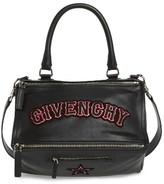 Givenchy Medium Pandora Gothic Patch Satchel - Black