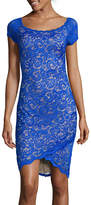 Bisou Bisou Cap-Sleeve Lace Sheath Dress