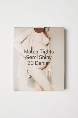 H&M MAMA 2-pack 20 denier tights