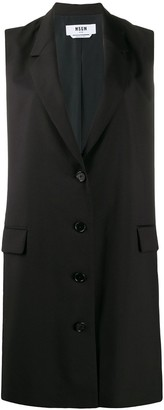 MSGM sleeveless blazer style dress