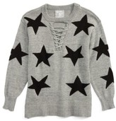 Flowers by Zoe Girl's Star Lace-Up Sweater