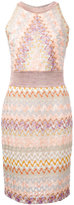 Missoni signature print fitted dress - women - Polyester/Cupro/Rayon - 44