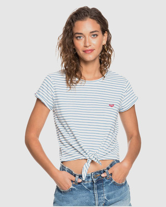Roxy Womens Magical Sunset Tie Front T Shirt
