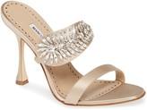 Manolo Blahnik Blanik Skysan Crystal Embellished Sandal