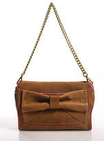 Nanette Lepore Beige Leather Bow Detail Shoulder Handbag Size Small