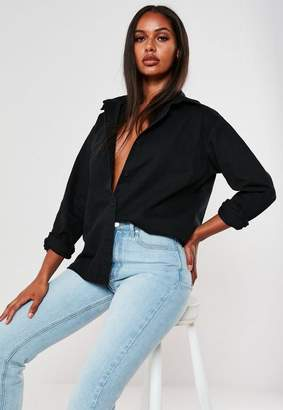Missguided Black Denim Shirt
