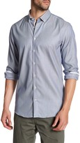Lindbergh Micro-Print Long Sleeve Regular Fit Shirt