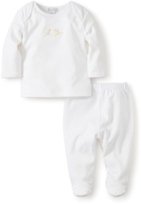 Kissy Kissy Baby's 2-Piece Hatchlings Cotton Top & Footed Pants Set