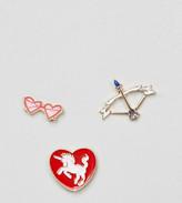 Reclaimed Vintage Inspired Love Pin Set