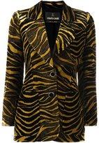 Roberto Cavalli tiger print velvet blazer - women - Silk/Cotton/Viscose - 38