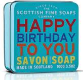 Scottish Fine Soaps Happy Birthday Soap in a Tin by 100g Bar)