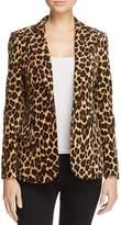 Frame Cheetah-Print Velvet Blazer