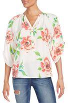 Yumi Kim Yumi Floral-Print Silk Top
